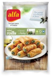 Filo pastry rolls with spinach & cheese-Alfa