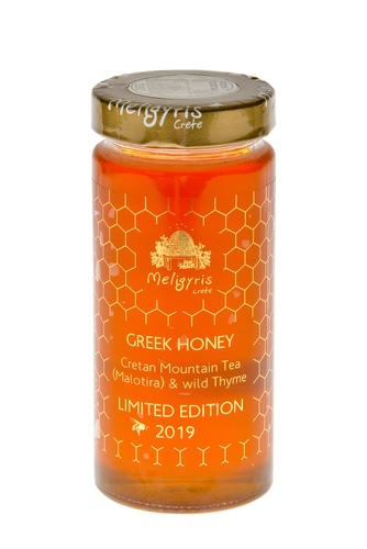 Greek mountain tea & wild thyme honey from Crete-Meligyris
